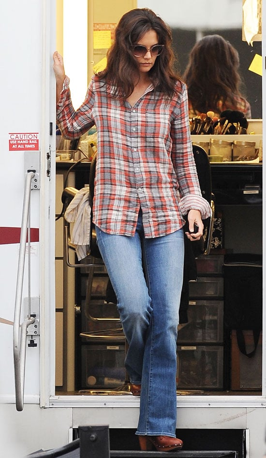 Pictures of Katie Holmes on Jack and Jill Set