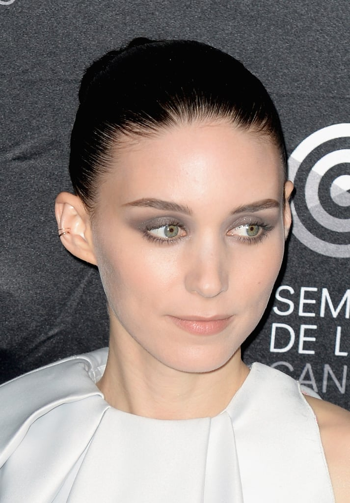 Rooney Mara, rockin' a soft grey smoky. Perfection.