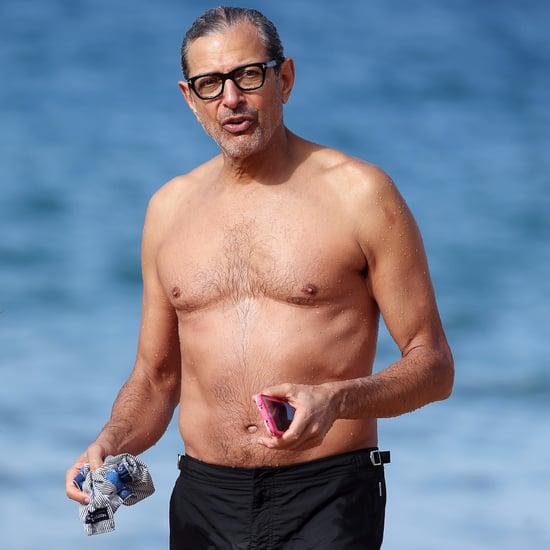 Jeff Goldblum Shirtless in Hawaii Pictures December 2016