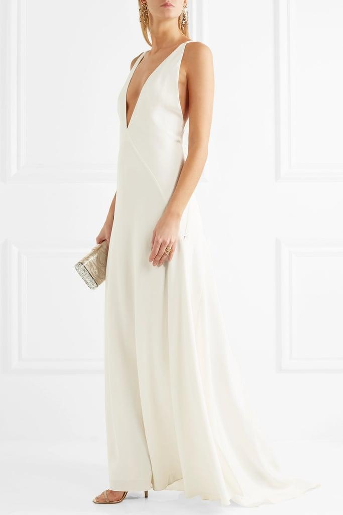 Michael Lo Sordo Alexandra Silk Crepe De Chine Gown