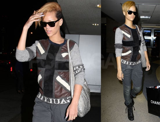 Photos of Rihanna Arriving at LAX After Performing in Europe