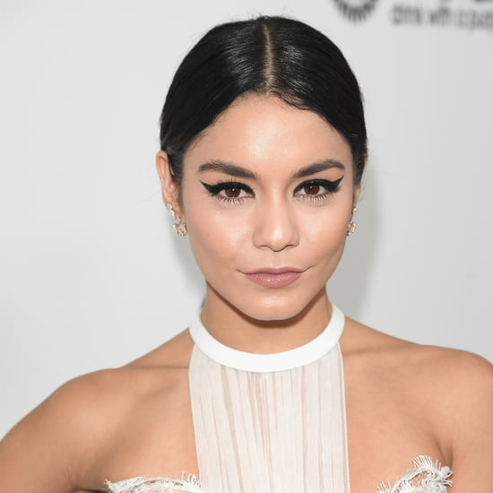 Vanessa Hudgens Cat-Eye Makeup 2017 Oscars Viewing Party