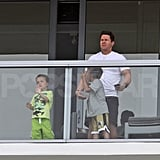 Shirtless Mark Wahlberg Spends Easter With Family and Bikini-Clad Rhea Durham