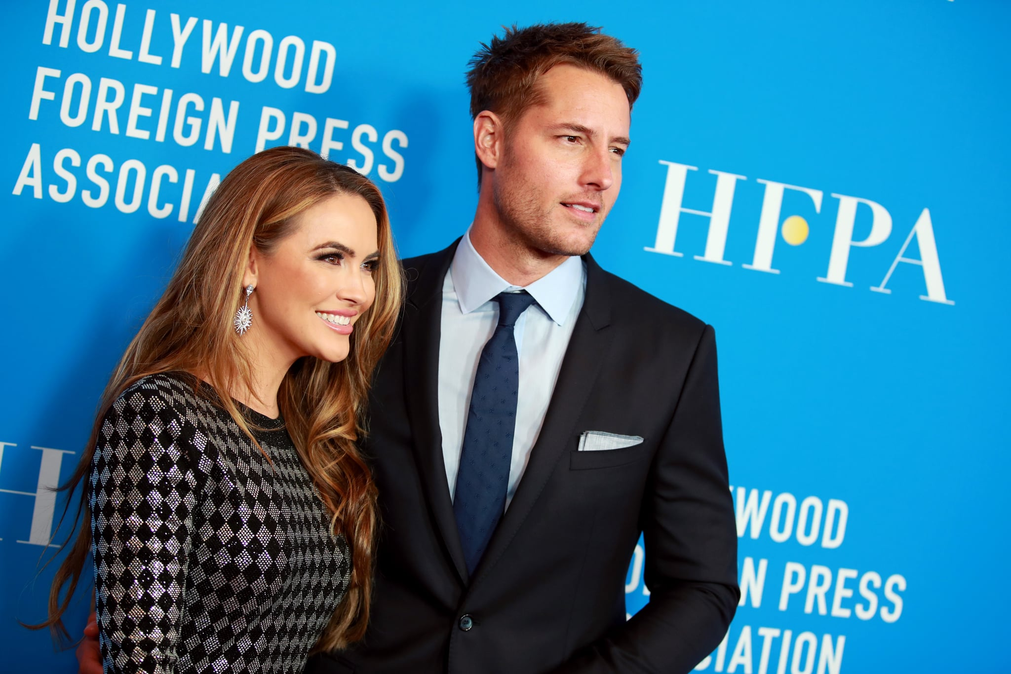 BEVERLY HILLS, CALIFORNIA - JULY 31: (L-R) Chrishell Hartley and Justin Hartley attend the Hollywood Foreign Press Association's Annual Grants Banquet at Regent Beverly Wilshire Hotel on July 31, 2019 in Beverly Hills, California. (Photo by Rich Fury/Getty Images)