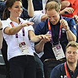 Kate and Wills had a dance in their casual outfits.