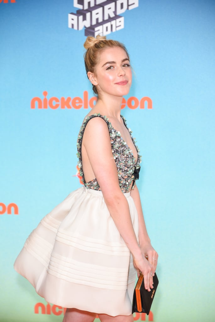 5d6cc9c4 Kiernan Shipka's Miu Miu Dress at Kids' Choice Awards 2019 ...