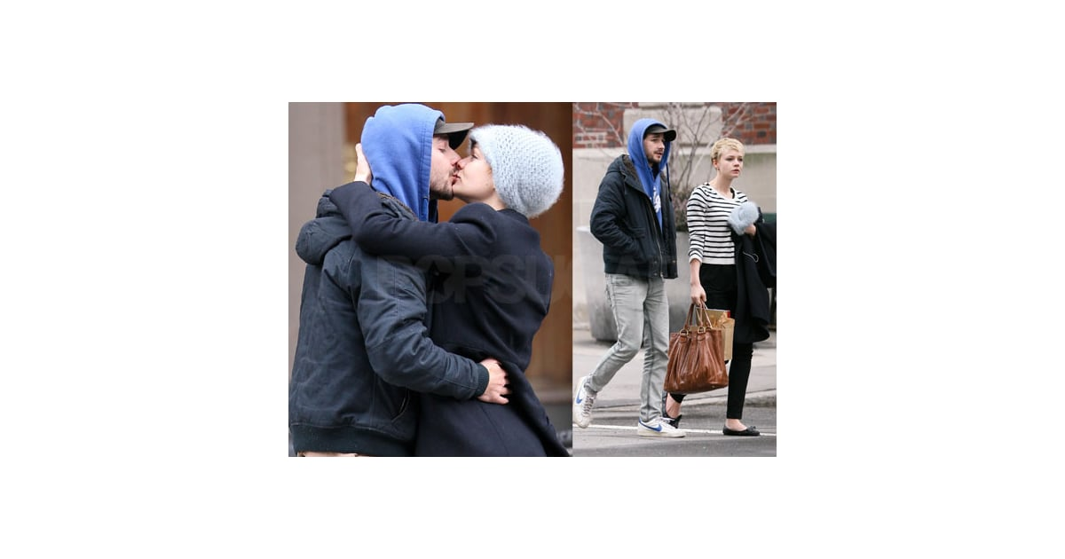 Carey mulligan and shia labeouf kissing