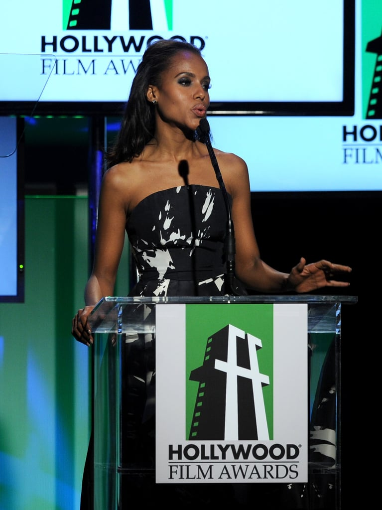 Kerry Washington appeared on stage at the Hollywood Film Awards gala in Los Angeles.