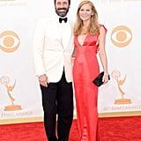 Jon Hamm and Jennifer Westfeldt stepped out for the 2013 Emmy Awards.
