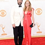 A handsome Jon Hamm and his girlfriend, Jennifer Westfeldt, walked the Emmys red carpet together.