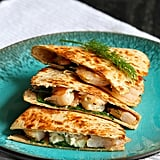 Lemon Dill Shrimp Quesadillas