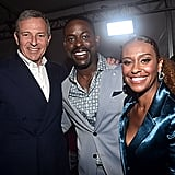 Bob Iger, Sterling K. Brown, and Ryan Michelle Bathe at Frozen 2 Premiere