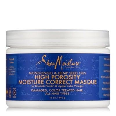 Shea Moisture Mongongo & Hemp Seed Oils High Porosity Moisture-Correct Masque