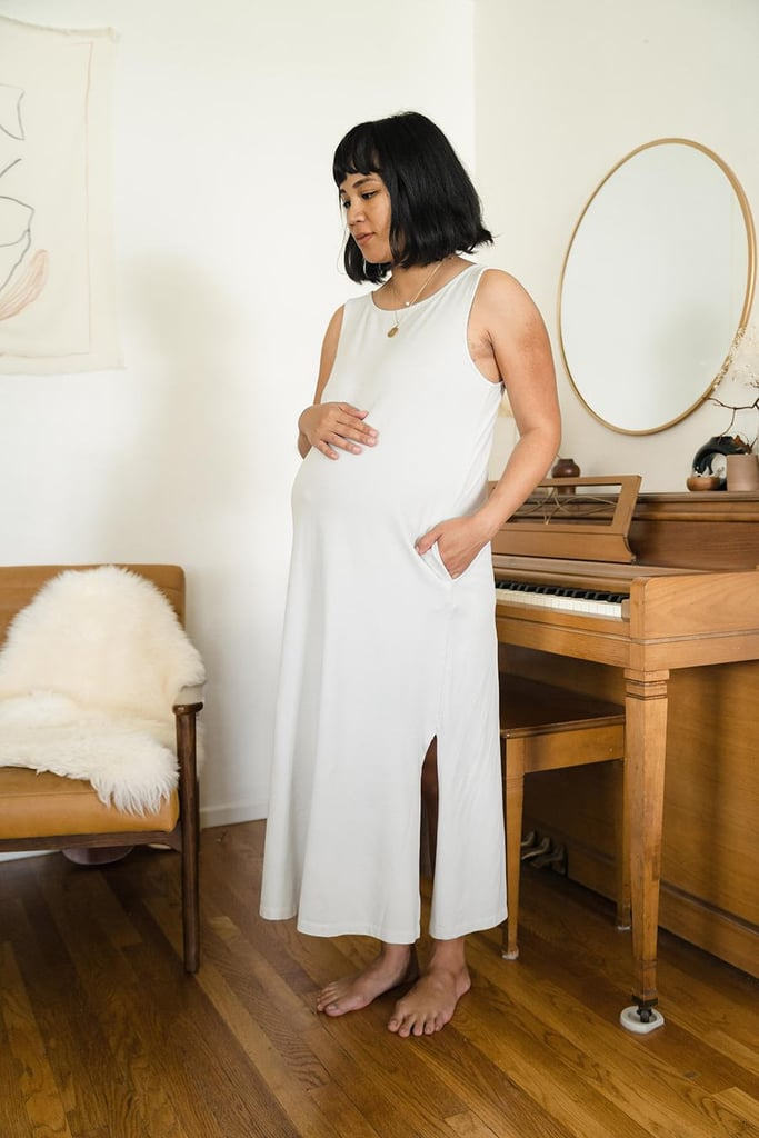 21b6da701c9 Mien Studios Fortuna Column Dress in Stone Grey