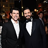 Pictured: Max Greenfield and Edgar Ramirez