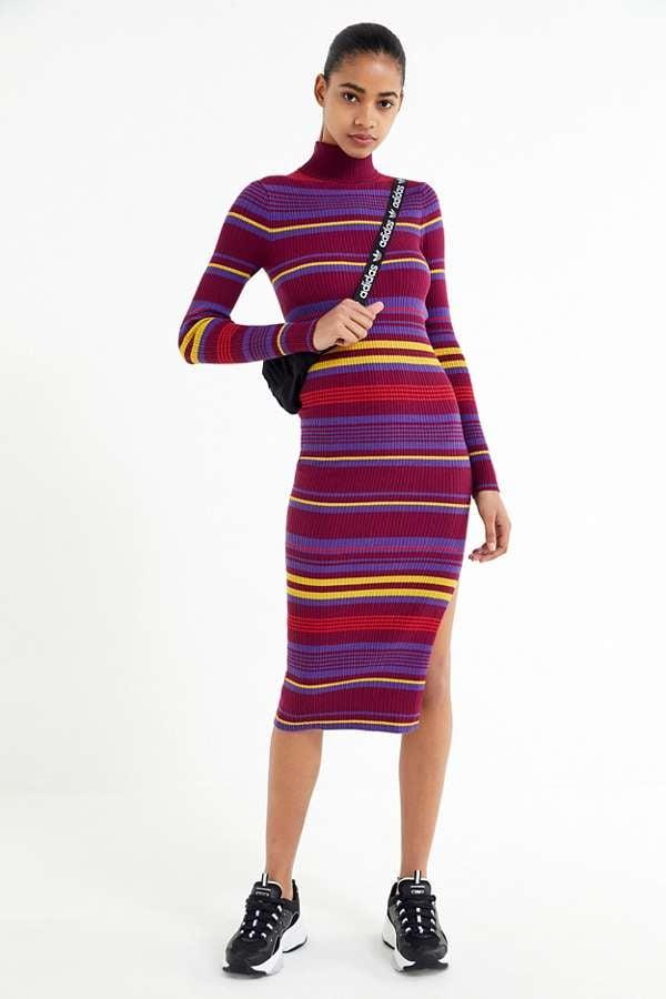 UO Stella Striped Turtleneck Sweater Dress