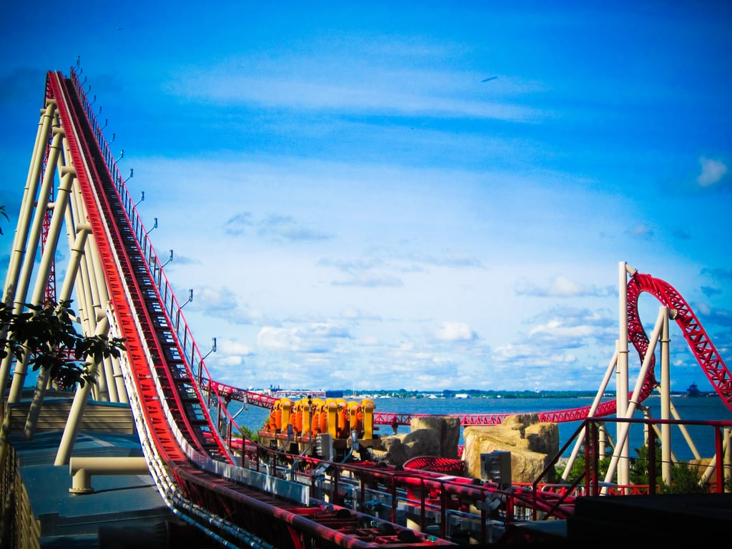 Ride roller coasters at Cedar Point in Ohio.