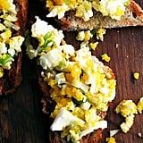 Hard-Boiled Eggs on Toast