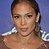 Jennifer Lopez posed at an American Idol party.