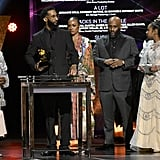 Photos of Nipsey Hussle's Family Accepting His Grammy