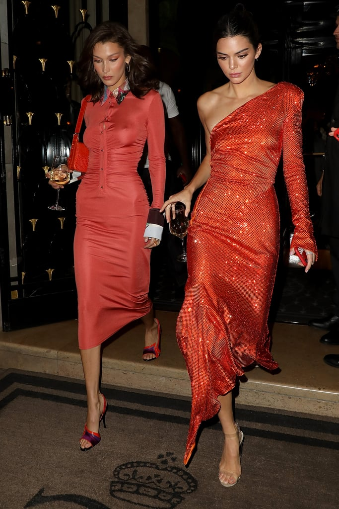 Kendall Jenner and Bella Hadid Wore Matching Dresses During Paris Fashion Week