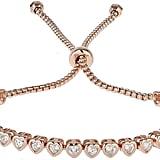 Mikey Cubic Heart Link Self Locking Bracelet