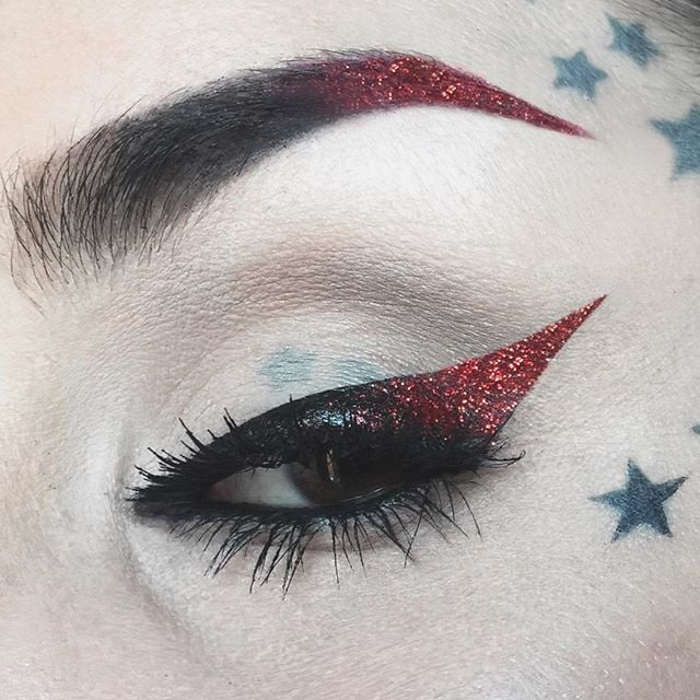 Kat Von D Red Glitter Cat Eye
