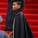 Janelle Monae's Hair at the 2015 Met Gala