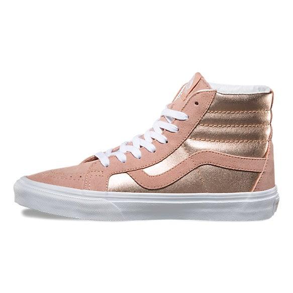 Ya que horizonte Adicto  Vans Rose Gold High Top Sneakers | POPSUGAR Fashion