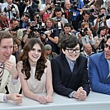 Roman Coppola, Jared Gilman, Kara Hayward, and Wes Anderson linked up at the Moonrise Kingdom photocall at the Cannes Film Festival.