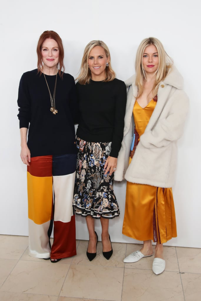Julianne Moore, Tory Burch, and Sienna Miller