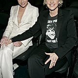 Portia de Rossi and Ellen DeGeneres sat side by side at the February 2005 Grammys.
