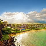 Sheraton Maui Kaanapali Beach, Hawaii Curving around a white-sand cove and the fabled Black Rock cliff, this resort specializes in postcard-perfect views. Every one of the 508 serene rooms has a balcony, and most come with Pacific vistas. But the best eye candy is at the lava-rock point, where brave souls take the plunge in a sunset cliff-diving ceremony — best watched while sipping mai tais at the poolside bar below. From $339; Sheraton Maui Related: How to Find the Right Dress For Your Body Type Photo: Courtesy of Starwood Hotels Hawaii