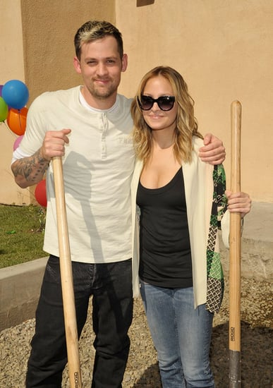 Nicole Richie and Joel Madden attend The Ribbon cutting Ceremony for Beyond Shelter Playground