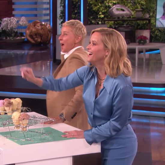 Reese Witherspoon Chucks Ice Cream at Meryl Streep on Ellen
