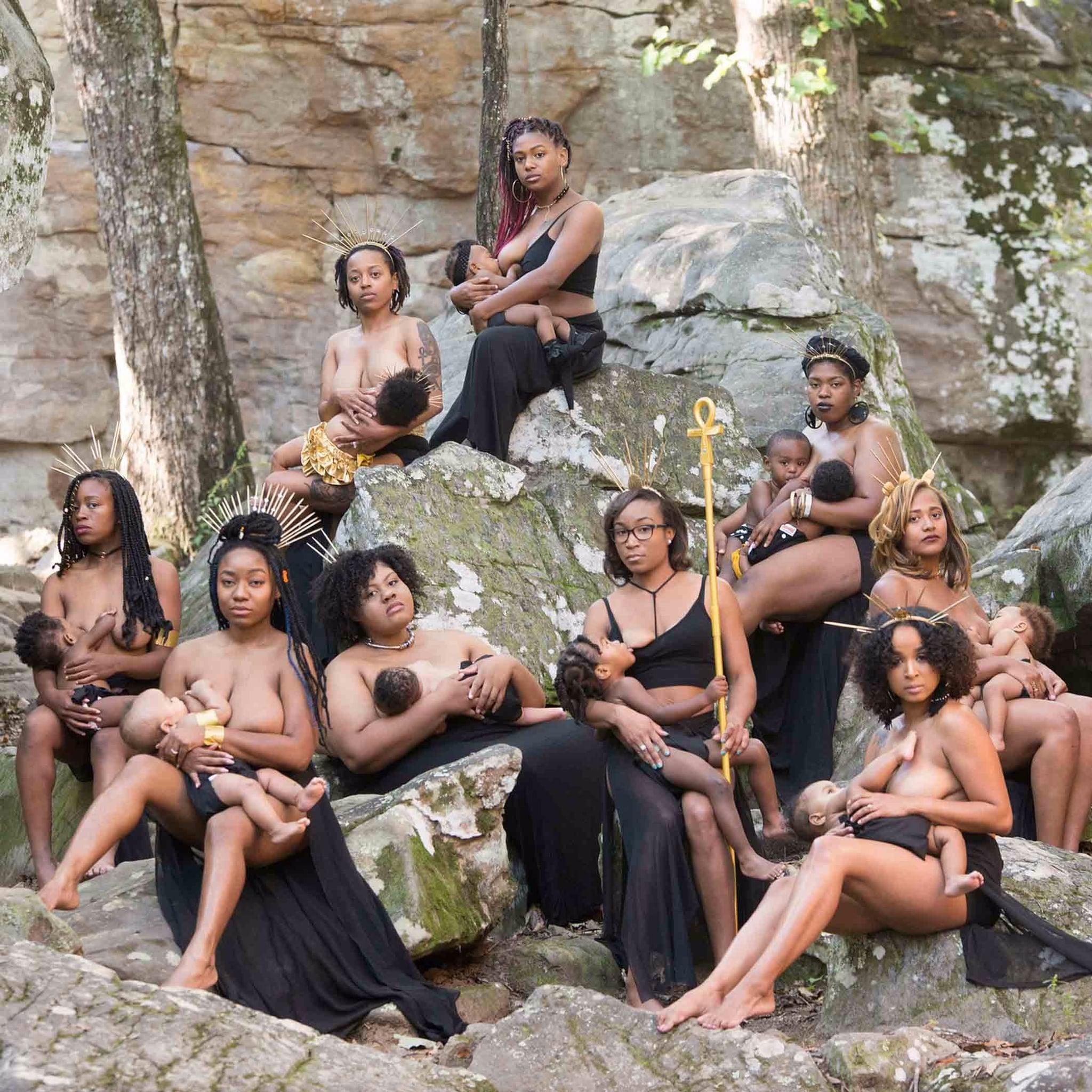 breastfeeding African women