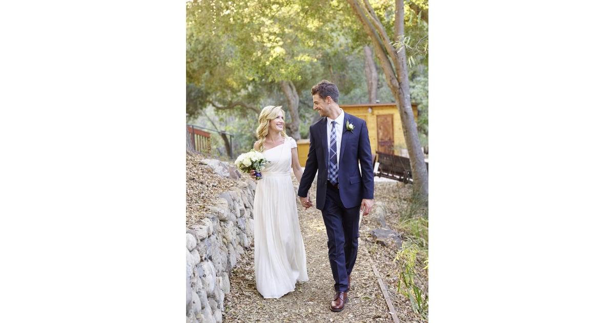 Angela Kinsey's Wedding Dress | POPSUGAR Fashion Photo 3