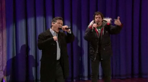 """Video of Chris Parnell and Andy Samberg Singing """"Lazy Sunday"""" on The Late Show With Jimmy Fallon"""