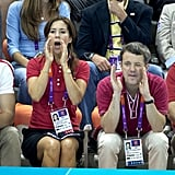 Mary and Frederik cheered on Denmark during the London Olympics in July 2012.