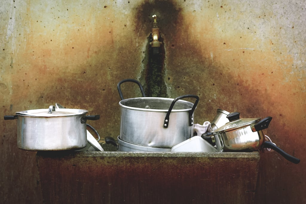 Organize the pots and pans in your kitchen.