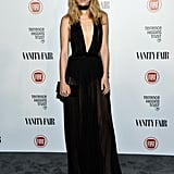 For a Vanity Fair party celebrating young Hollywood in February 2015, Suki took the plunge in a revealing black Balmain dress.