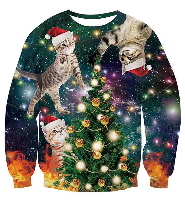 Cat Themed Ugly Christmas Sweaters on Amazon | POPSUGAR Pets