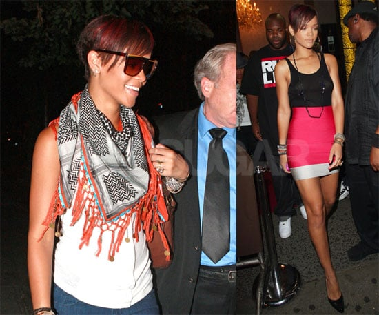 Photos of Rihanna in Sheer Black Shirt in NYC