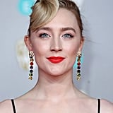 Saoirse Ronan's Cheerful Red Lip and Greaser Coif at the 2020 BAFTAs