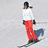 Kate Middleton skied down the mountain in France with her family.