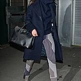 Taylor Hill wearing a Prada bag.