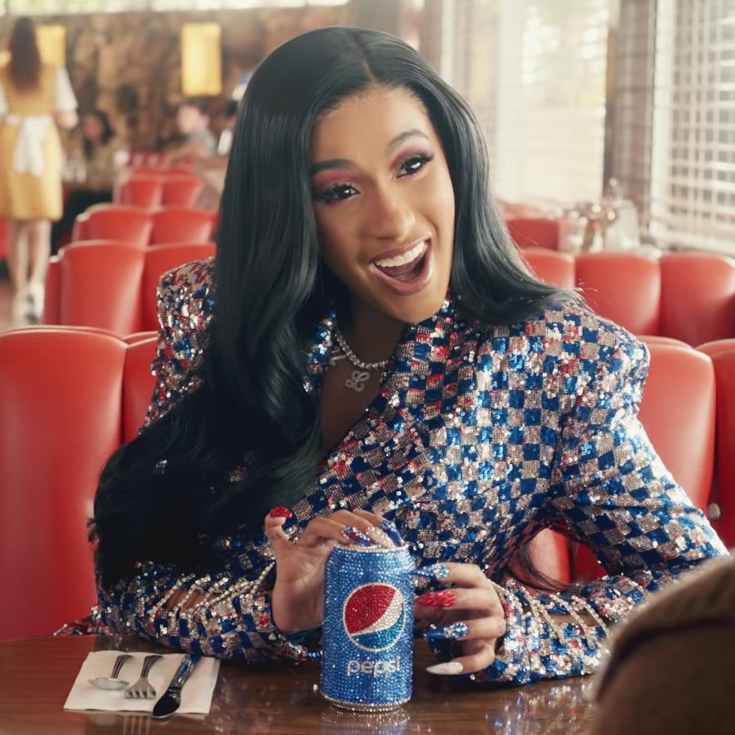 Cardi B Pepsi Nails Popsugar Beauty