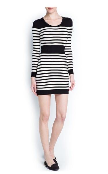 Don't fear horizontal stripes, this Mango striped cotton-knit dress ($40) boasts a flattering waistband to draw the eye in to the narrowest part of your waist.