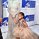 In 2016, Beyoncé walked the red carpet with daughter Blue Ivy.