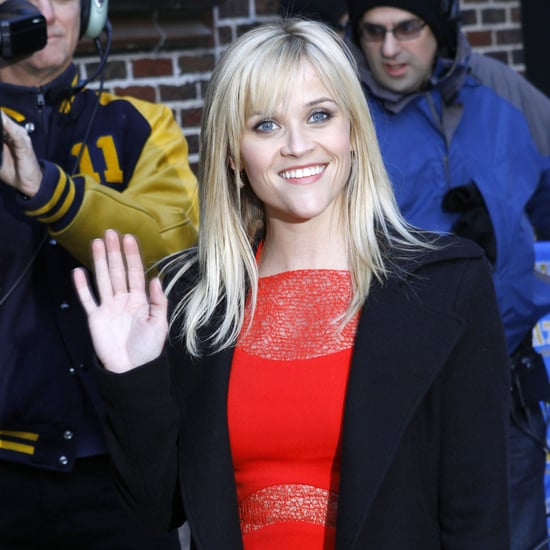 Reese Witherspoon Red Dress Pictures at Late Show